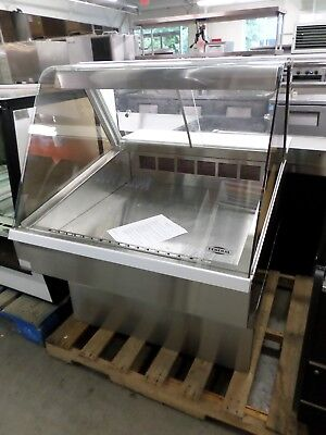 "Federal 36"" refrigerated deli case, curved glass with stainless base, SQ3CD"
