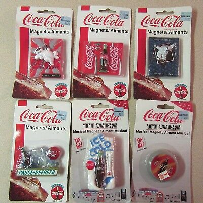 Coca-Cola Magnets - Set Of 6 (2 Musical) - New In Package