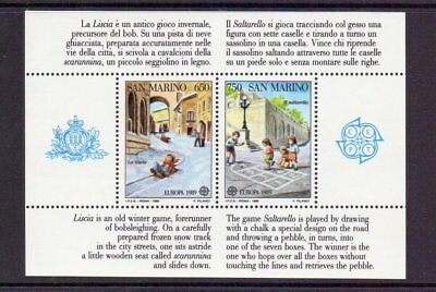 San Marino 1989 Europa M/sheet Mnh Cat £31