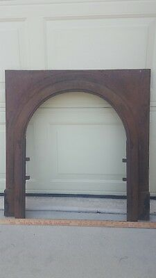 Antique Cast Iron Mantel Surround fireplace arcitectural salvage