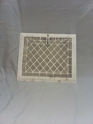 Antique Stamped Steel Wall Heat Grate Register Vent Design 12 x 10 114-18F