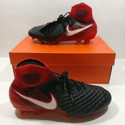 88b4969c1556 Mens Nike Magista Obra II FG ACC Soccer Cleats Black Red 844595 061 Multi  Size