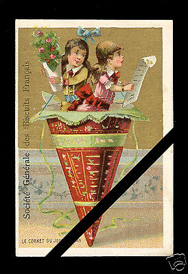 Vintage French Trade Card: Rare Original Antique Est. early 1900's France