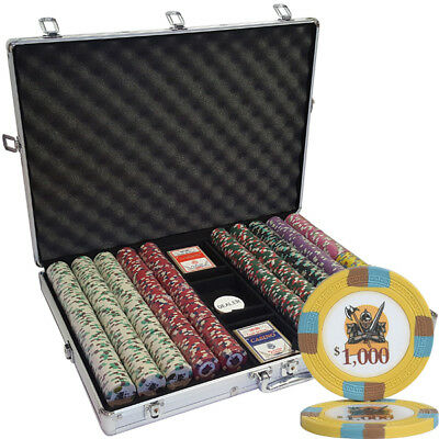 1000 14G Knights Casino Clay Poker Chips Set - Choose Denominations