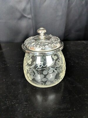 S Kirk and Son Sterling Silver and Glass Pot