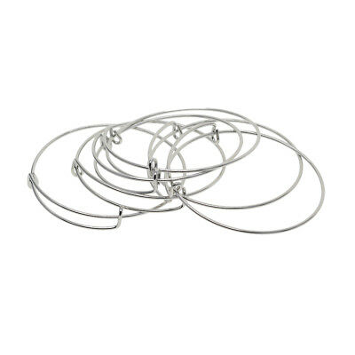 6 Pcs Adjustable Wire Bangle Bracelet Base for DIY Jewelry Making Supplies