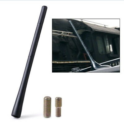 "8"" Universal Aerial Antenna Mast Car AM/FM Radio Short Stubby Rubber Roof Black"