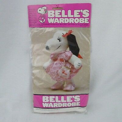 Belle's Wardrobe Pink Shoes And Purse For Large Plush 9281 Snoopy's Sister