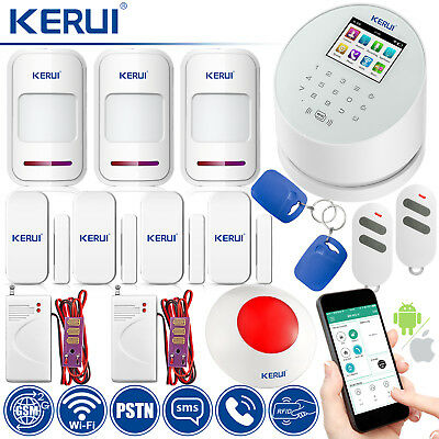 KERUI W2 WiFi PSTN GSM SMS RFID Home Security Alarm System Water Leak Detector