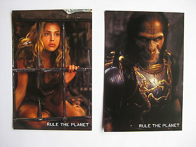 PLANET OF THE APES 2001 Orig Australian movie postcards Tim Roth Burton