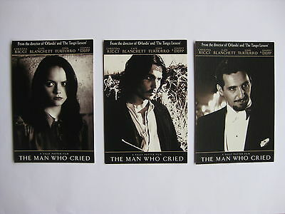 THE MAN WHO CRIED Orig Australian movie postcards Johnny Depp Cate Blanchett
