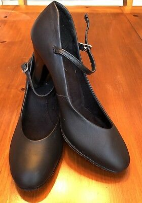 Capezio Character Shoes Black For Dance Stage Theater High Heels Size 7