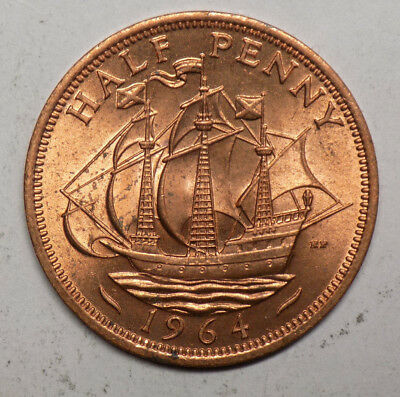 Great Britain 1964 1/2 Penny Coin