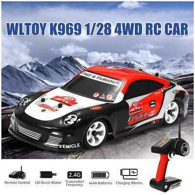 Electronic Wltoys K969 1/28 2.4G 4WD Brushed High Speed Drift RC Kids Toy Car
