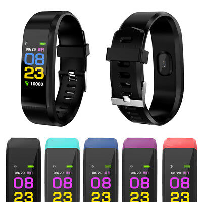 Wristband Bluetooth Smart Bracelet Watch Monitor Blood For IOS Android Samsung