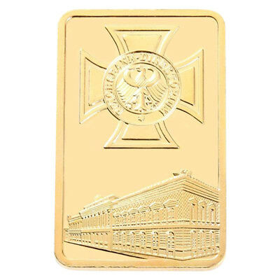 Gold Brick Bitcoin Commemorative Collectors Gift  Coin Bit Coin Art Collection``
