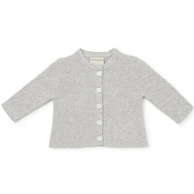 Marquise Grey Knitted Baby Cardigan 100% Cotton Kids Clothes Birthday Gift