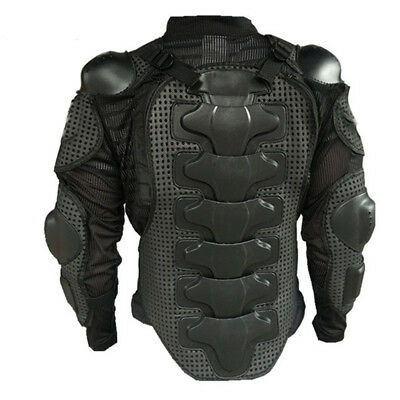 Motorcycle Racing Full Body Spine Chest Protective Gear-Armor Jacket Black Size