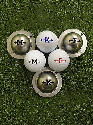 1 Only Alpha Player Tin Cup Golf Ball Markers - Yours For Life - Arrows Alphabet