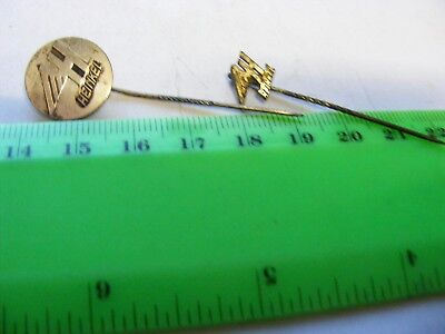 HEINKEL Motor Scooter..lot of 2 very old lapel,hat pin badges.