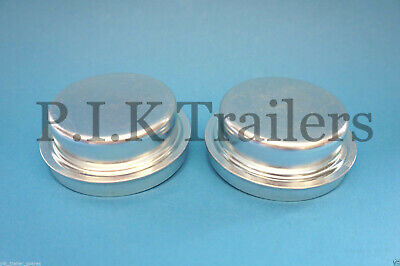 2 x 64.5mm Metal Grease Dust Hub Caps for Ifor Williams P6E Trailer Wheels