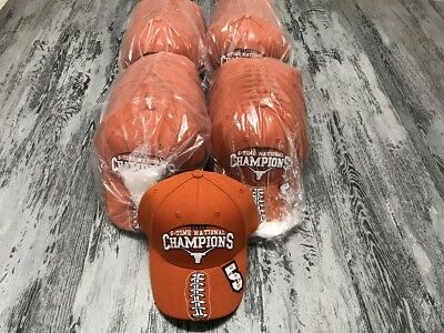 Huge Lot Of 48 Vintage Texas Longhorns 5 Time National Champions Hat Cap New