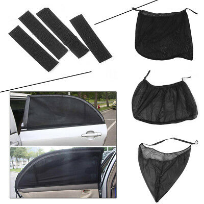 2PCS Anti Insect Mosquito Sunscreen Car Window Net Door Mesh Sun Visors yb