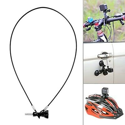 25cm Safety Stainless Steel Lanyard Tether + Screw for GoPro HERO5 4 Sessio CA