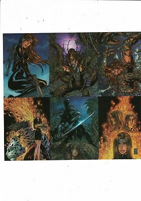 CHROME WITCHBLADE BY MICHAEL TURNER TRADING Card Promotional Uncut Sheet MINT