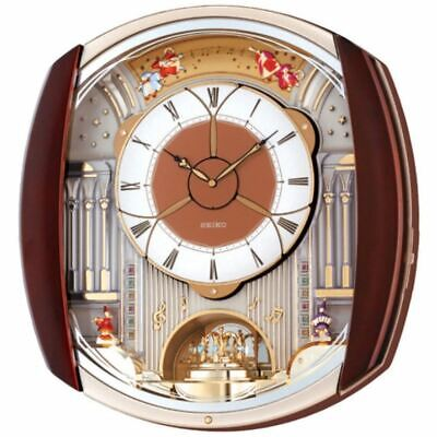 Seiko Analogue Melody in Motion Melodies Pendulum Antique Wall Clock QXM250B New