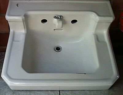 Vtg Ceramic White Bathroom Sink Old Standard 1750-16
