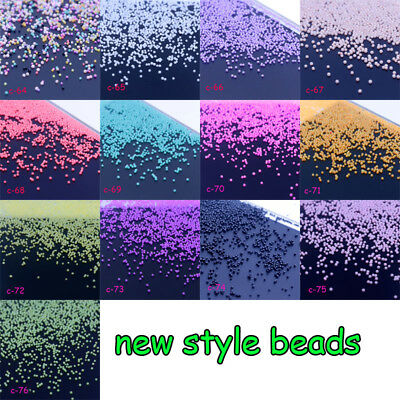 Mini Caviar Beads Crystal Tiny Rhinestones Micro Bead 3D Glitter Nail Art Decor