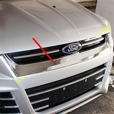 For Ford Escape Kuga 2013-2015 Auto Front Hood Bonnet Grille Cover Mesh ABS Trim