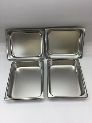 "Update Half Size Standard Steam Table Pans, 2.5"" Deep - Lot of 4 (Model STP-502)"