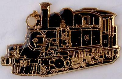 Victorian Puffing Billy NA class 2-6-2T steam locomotive in black badge