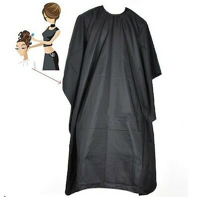 Hair Dye Cutting Cape Pro Salon Hairdressing Hairdresser Gown Barber Solid Black
