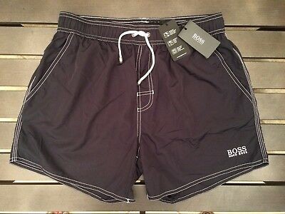 a530161020f18 HUGO BOSS SWIM Trunks M Surf Board Shorts Maroon Red Gray Killifish ...