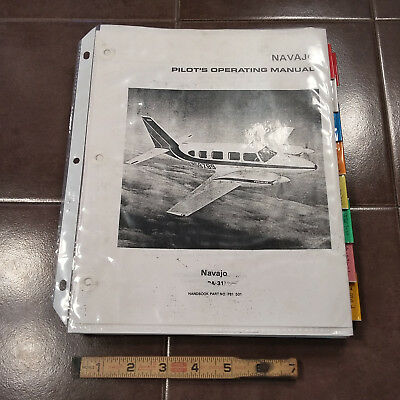 PIPER NAVAJO PA 31 POH Pilot S Operating Handbook Manual
