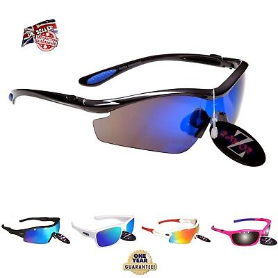 *c. Rayzor UV400 Pro Sports Wrap Sunglasses Mens Ladies Women Outdoor Polarised