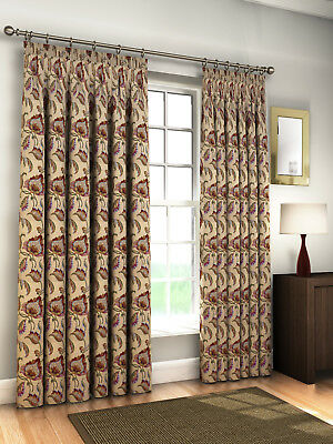 Burlington Vintage Tape Top HEAVY LINED Woven Pair of Curtains in 2 Sizes