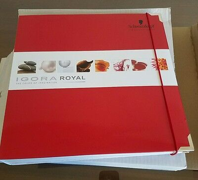 Schwartzkopf Professional Igora Royal Hair Color Chart Swatch Hair