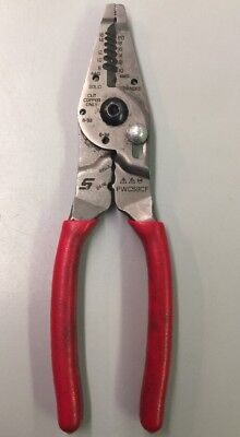 """Snap-on PWCS9CF 9"""" long RED Wire Stripper Crimper Cutter Snap on"""