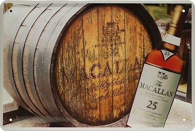 Blechschild 20x30 MacAllan Single Malt Scotch Whisky Whiskey Bar Metall Schild