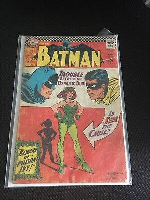 Batman #181 June 1966 1st appearance of poison ivy GD 3.0