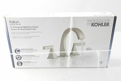 Kohler Sink Faucet Widespread 8 Inch 2-Handle Single Hole Lever Brushed Nicke