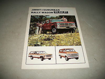 1975 Gmc Jimmy Suburban Rally Wagon Sales Brochure Cnd Issue Clean  No Stamp
