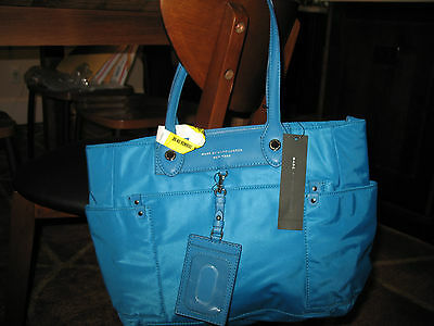 1e5e4aeee00b NWT Marc by Marc Jacobs Preppy Nylon Clara Zip Tote Handbag TURKISH TILE  BLUE