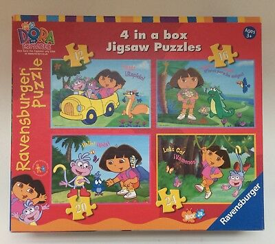 Dora The Explorer 4 In A Box Jigsaw Puzzles 3 All Complete Ravensburger