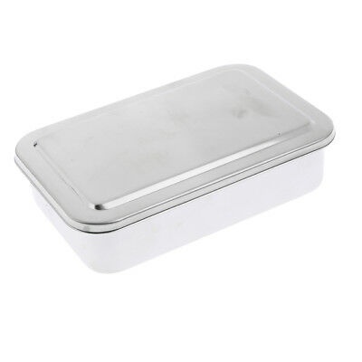 "6"" Surgical Instrument Medical Dental Tools Sterilizing Box Stainless Steel"