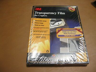 New 3M Transparency Film for Copiers 100 Sheets Sealed PP2000 Fast Ship